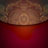 Floral design element on dark red background Stock Photo