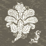 Floral design element renaissance style Stock Photos