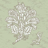 Floral design element renaissance style Royalty Free Stock Image