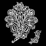 Floral design element renaissance style Stock Image