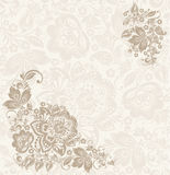 Floral design element with swirls for spring Royalty Free Stock Photography