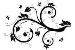 Floral design element. Vector illustration Royalty Free Stock Photos