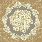 Floral design element vintage style Royalty Free Stock Images