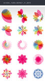 Floral Design Elements. Colorful Abstract Floral Symbols isolated on a white background. GH ICONS SERIES vector illustration
