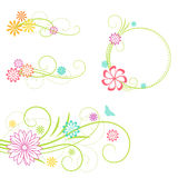 Floral design elements. Stock Photo