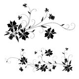 Floral design elements. Set of floral design elements with swirls Stock Photography