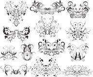 Floral Design Elements. Illustration of floral design pattern in butterfly shape Stock Photo