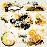 Floral design elements. Illustration drawing of floral background Vector Illustration