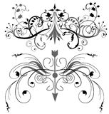 Floral design elements. Floral designs with some tribal elements. Available as jpg and eps (vector) file Stock Photography