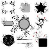 Floral design elements royalty free illustration