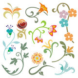 Floral design elements Stock Photos