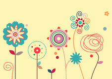 Floral Design Elements. Some colorful flowers with very different shapes and colors Royalty Free Stock Photography