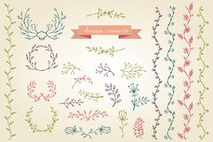 Floral design elements. Floral Frame Collection. Stock Images
