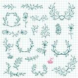 Floral design elements. Floral Frame Collection. Vector Stock Photo
