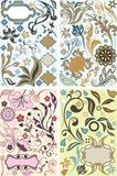 Floral design elements set Stock Photography