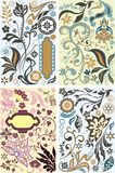 Floral design elements set Stock Images