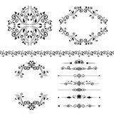 Floral design elements set , ornamental vintage border, frames and dividers Stock Image