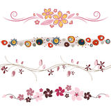 Floral design elements vector Royalty Free Stock Photos