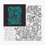 Floral design elements. Vintage floral design elements, Art board template royalty free illustration
