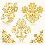 Floral design elements. Floral vintage design elements  on white background. Set 36 Royalty Free Stock Images