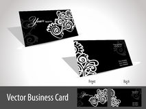 floral design elgant gift card, vector  Royalty Free Stock Photos
