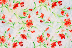 Floral design fabric Royalty Free Stock Photography