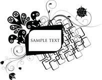 Floral design frame Stock Images