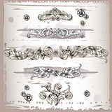 Floral Design Frame Elements Stock Images