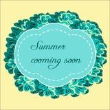 Floral design frame Stock Photos