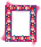 Floral design frame photo Stock Images