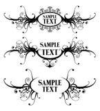 Floral design frames Stock Image