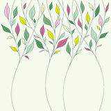 Floral design with fresh spring leaves Royalty Free Stock Photo