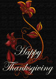 Floral Design Happy Thanksgiving Card Stock Photography