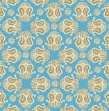 Floral design henna stock illustration