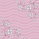 Floral Design Illustration. Spring floral design and waves Stock Illustration