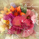 Floral design imitation shading  on dark background Royalty Free Stock Photography