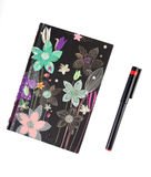 Floral design notebook Royalty Free Stock Image