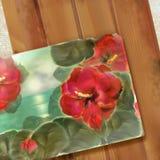 Floral design old postcard Stock Photos