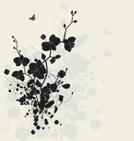 Floral design with orchids stock illustration