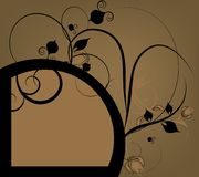 Floral design ornament Royalty Free Stock Image