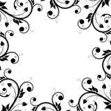 Floral Design Ornament Frame Stock Image