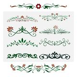 Floral Design,  ornamental decorative Elements. For documents, templates, embellishment and many other uses Royalty Free Stock Images