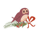 Floral design with owl Stock Photos