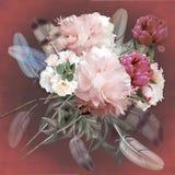 Floral design peonies, bouquet Stock Images