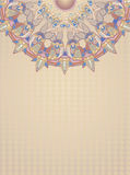 Floral design. Postcard on beige background Royalty Free Stock Image