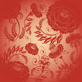 Floral design red flowers Stock Image