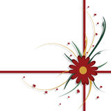 Floral design, red and green Stock Photography