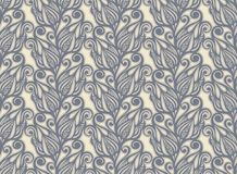 Floral design seamless in vintage style Royalty Free Stock Image
