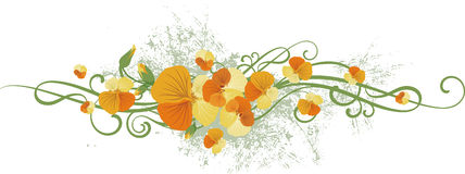 Floral design series Royalty Free Stock Image