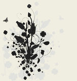 Floral design with shadow Royalty Free Stock Images